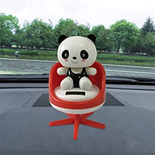 Solar Powered Dancing Toys Swinging Lovely Panda Bobble Dancer Toy Car Decor Gessppo