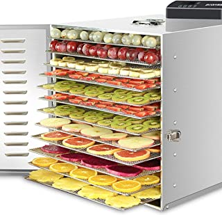 Pusaman Commercial stainless steel food dehydrator - raw food and dried fruits -1000W fresh food and nutrition professiona...