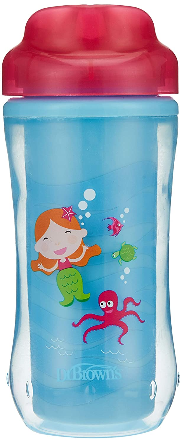 Dr. Brown's Spoutless Credence Insulated Cup 10 Pink 12m+ Mermaid Superior oz