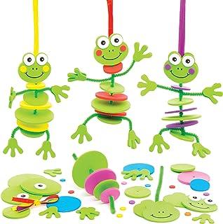 Baker Ross Kits de décoration Grenouilles à empiler (Lot de 6) -Loisirs créatifs pour Enfants, AT611
