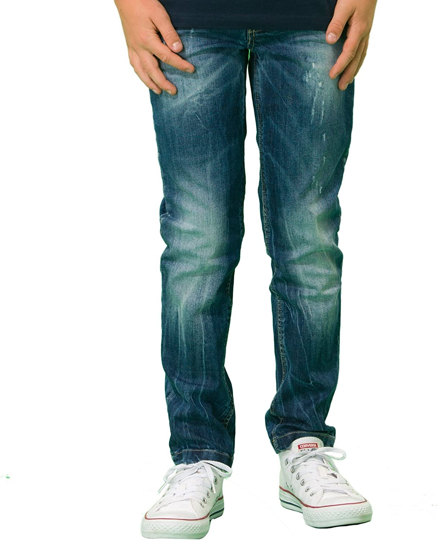 LEO/&LILY Big boys Kids Denim Regular Fit Waist Jeans Pants LLB653