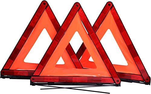 popular CARTMAN Foldable Warning wholesale Triangle Emergency Warning Triangle online Reflector Safety Triangle Kit, Pack of 3, NO Storage Case outlet sale