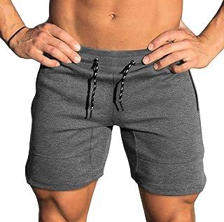 Yidarton Men's Sports Shorts Casual Fit Elastic Jogger Gym Short with Pockets