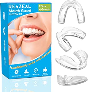 New Upgraded Health Professional Dental Guard - 2 Sizes, 4 Pieces Mouthguard, Moldable Night Guards for Teeth Grinding, Stops Bruxism, Tmj & Eliminates Teeth Clenching