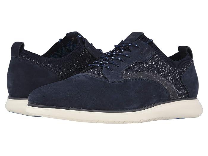 Florsheim  Fuel Knit Plain Toe Oxford (Indigo Nubuck/White Sole) Mens Shoes