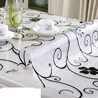 Pvc Table Cloth/Tea Table Mats/Waterproof And Anti-ironing Oil-free Washable Soft Glass Tablecloth/Plastic Crystal Plate-A 100x100cm(39x39inch)