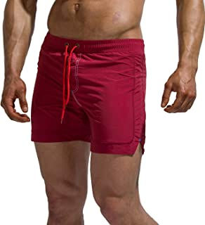 Tofern Beach Board Shorts Adjustable Drawstring Men Swim Trunks Bathing Suit Swimwear Shorts