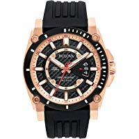 Bulova Men's 98B152 Precisionist Analog Chronograph Black Watch