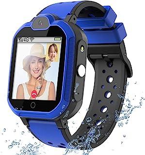 4G GPS Kids Smartwatch Phone - Boys Girls Waterproof Watch with GPS Locator 2 Way Call Camera Voice & Video Chat SOS Alarm...