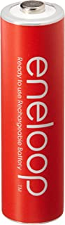 Eneloop GS-8RDZ-KAOB Panasonic AA 4th Generation 2000mAh Min.1900mAh NiMH Pre-Charged Rechargeable Battery with Holder Red Pack of 10