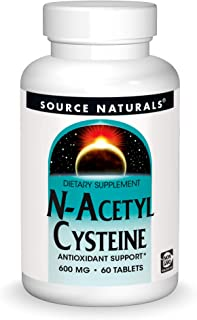 Source Naturals N-Acetyl Cysteine Antioxidant Support 600 mg Dietary Supplement That Supports Respiratory Health - 60 Tablets
