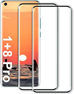 for Oneplus 8 Pro Screen Protector with oneplus 8 pro Protective Film, Full 3D Curved Edge Tempered Glass for Oneplus 8 Pro