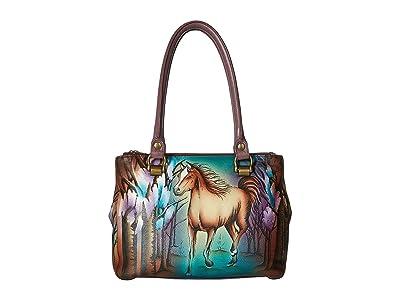 Anuschka Handbags 626 Triple Compartment Medium Tote (Free Spirit) Handbags