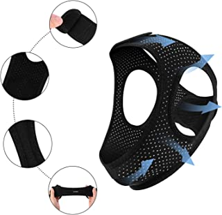 Anti Snoring Chin Strap for CPAP Users(New Version Upgrade) Breathable Adjustable Chin Straps-Effective Stop Snoring for Men and Women,Comfortable Sleeping cpap Chin Strap.Includes A Velcro