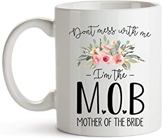 YouNique Designs Mother of the Bride Mug, 11 Ounces, Mother of the Bride Coffee Cup from Daughter