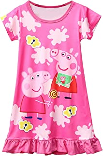 Pig Pattern Dress with Girls' Skirt, Nightgown 3y - 8y