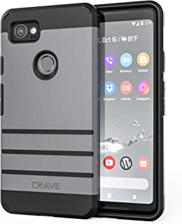 Google Pixel 2 XL Case, Crave Strong Guard Protection Series Case for Google Pixel 2 XL - Slate