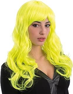 Generique Parrucca glamour giallo fluo donna