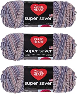 Red Heart E300-3972 Red Heart Super Saver Yarn - Mulberry Mix