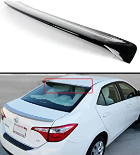 Cuztom Tuning Fits for 2014-2019 Toyota Corolla 4 Door Sedan Glossy Black Rear Roof Window Visor Spoiler