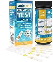 Prueba de Agua de Piscina 3en1 - Probador de Agua para Piscinas | Test de Cloro, pH y alcalinidad. 100 Tiras de Prueba combinadas