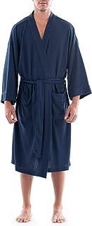 mens Waffle Kimono Robe