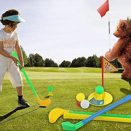 Mini Multicolor Golf Club Set Golfer Game Outdoor Sports Garden Summer Kids Toy