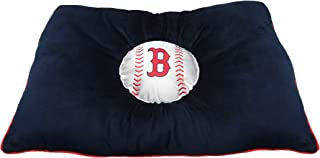 MLB PET Bed - Boston Red Sox Soft & Cozy Plush Pillow Bed. - Baseball Dog Bed. Cuddle, Warm Sports Mattress Bed for Cats & Dogs