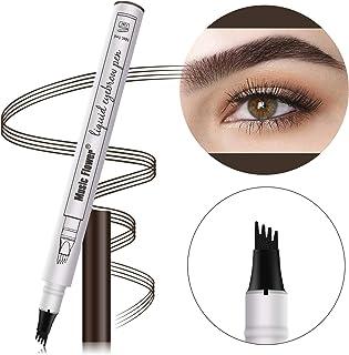 Waterproof Eyebrow Pencil Cosmetic TattooPen 4 Heads Fork Tip Patented InkSketch (#03 Dark Grey)