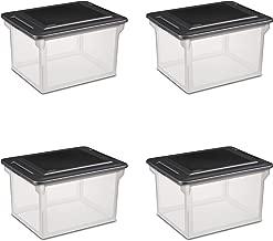 Sterilite 18689004  Storage File Box, 4-Pack