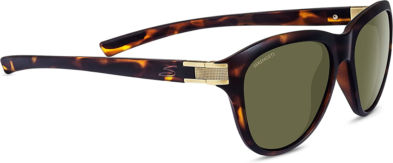 Serengeti Elba Premium Nylon Women's Sunglasses, Satin Dark Tortoise, Polarized 555nm