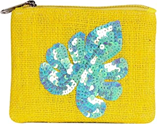 Embellished Jute Coin Purse