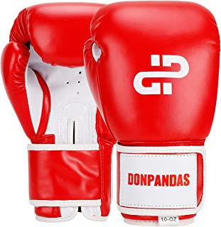 Donpandas Boxing Gloves for Women & Men Punching Heavy Bag Gloves Essential Gel Boxing Kickboxing Sparring Muay Thai Training Gloves