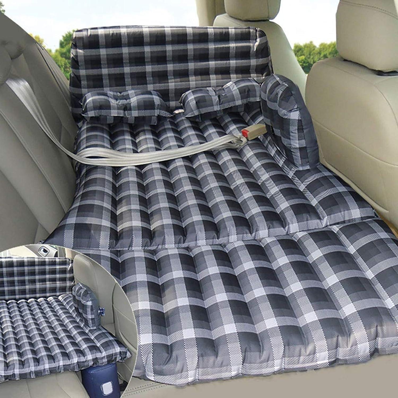 Auto Reise Luftbett Limousine SUV Auto Hinteren Sitz Air Matratze Isomatte mit Schutz Kopf und Sicherheit Schnalle Isomatte (Farbe   E)