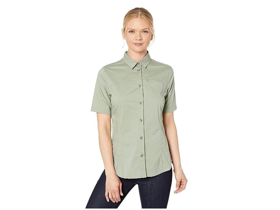 Fjallraven High Coast Stretch Short Sleeve Shirt (Sage Green) Women