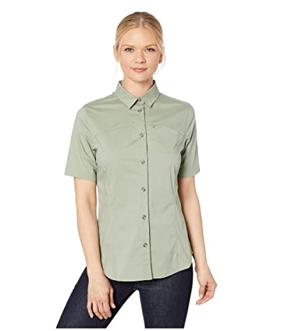 Fjallraven High Coast Stretch Short Sleeve Shirt (Sage Green) Women
