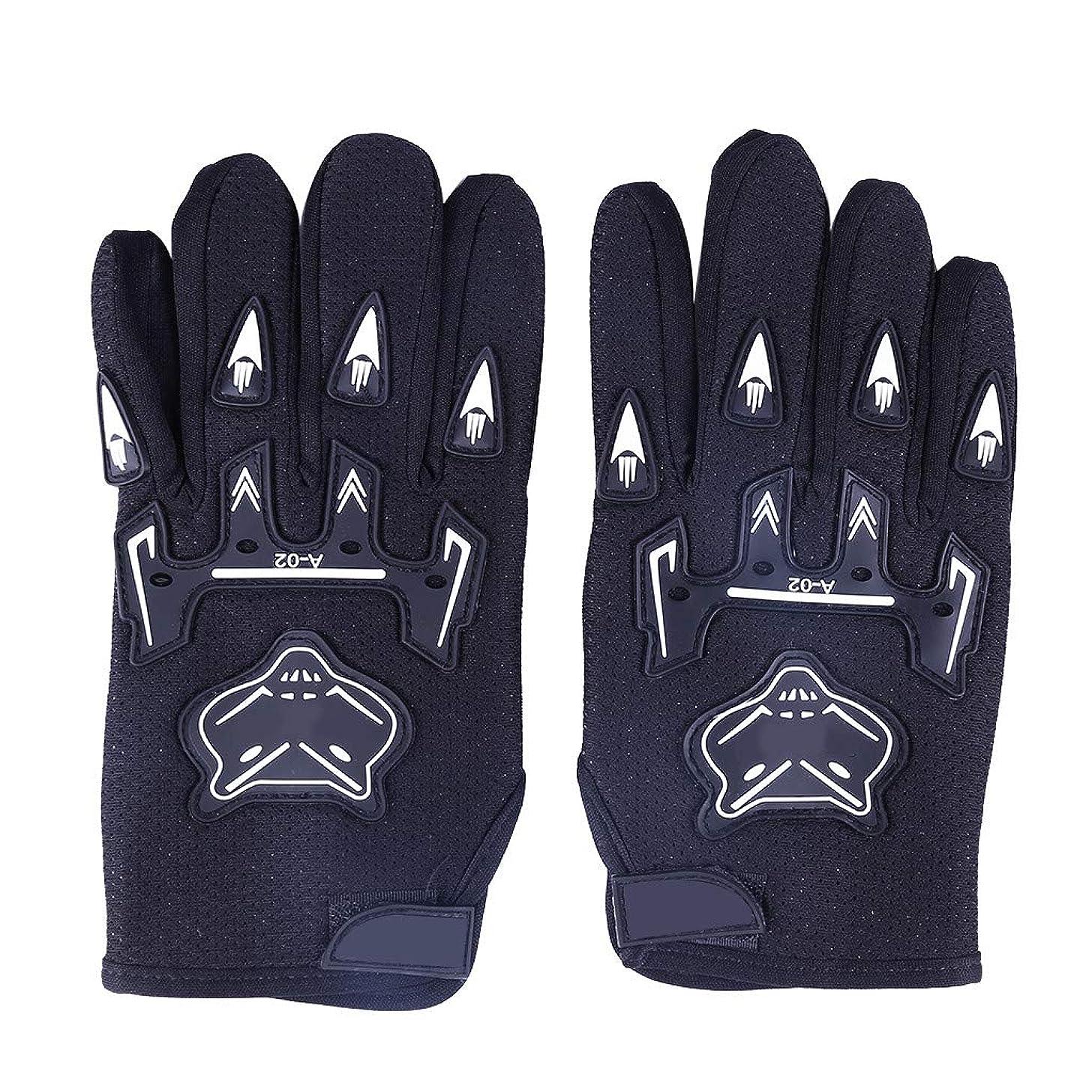 Ikevan 2019 Ridding Gloves Full Finger Glove Racing Motorcycle Gloves Cycling Bicycle MTB Bike Riding (Black)
