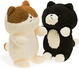 Onsoyours Kitty 11.8'' Plush Stuffed Animal Two Pack, Super Soft Plushies with Black Cat and Calico cat, Plush Toy Gifts f...