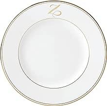 Lenox Federal Gold Script Monogram Dinnerware Dinner Plate, Z