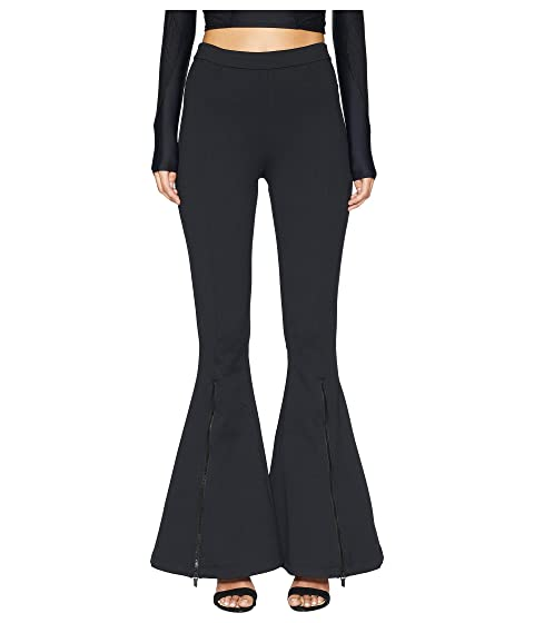 Cushnie Dree High-Waisted Flare Leg Pants with Zippers