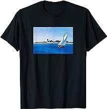 Hopper Painting Sailboat | The Long Leg Seascape Lighthouse T-Shirt