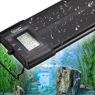 hygger Aquarium Programmable LED Light, Full Spectrum Plant Fish Tank Light Extendable Brackets with LCD Setting Display, ...