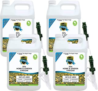 30% Vinegar Pure Natural & Safe Industrial Strength Concentrate in Bulk for Home & Garden 6X More Powerful Than Regular Vi...