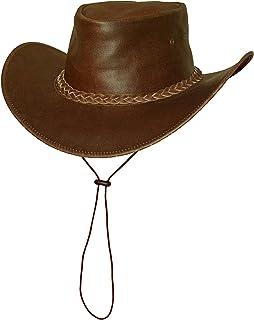 Cappello da Cowboy Cappello Australia Black Jungle Broome Cappello per Bambini Cappello in Pelle Cappello Occidentale