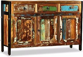 Aparado 3 Compartimentos y 3 Cajones Madera Maciza + Hierro Forjado Completamente Hecha a Manormueble aparador salon ...