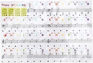 Piano Key Stickers, lämpliga för nybörjare Brett utbud av användbarhet Iögonfallande Keyboard Stickers för Piano Nybörjare...