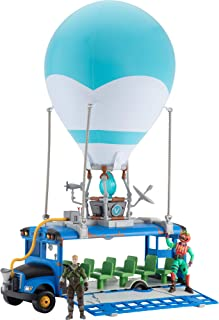 Fortnite Battle Bus Deluxe - Features Inflatable Balloon with Lights & Sounds, Free-Rolling Wheels on Bus - Includes 4 Inc...