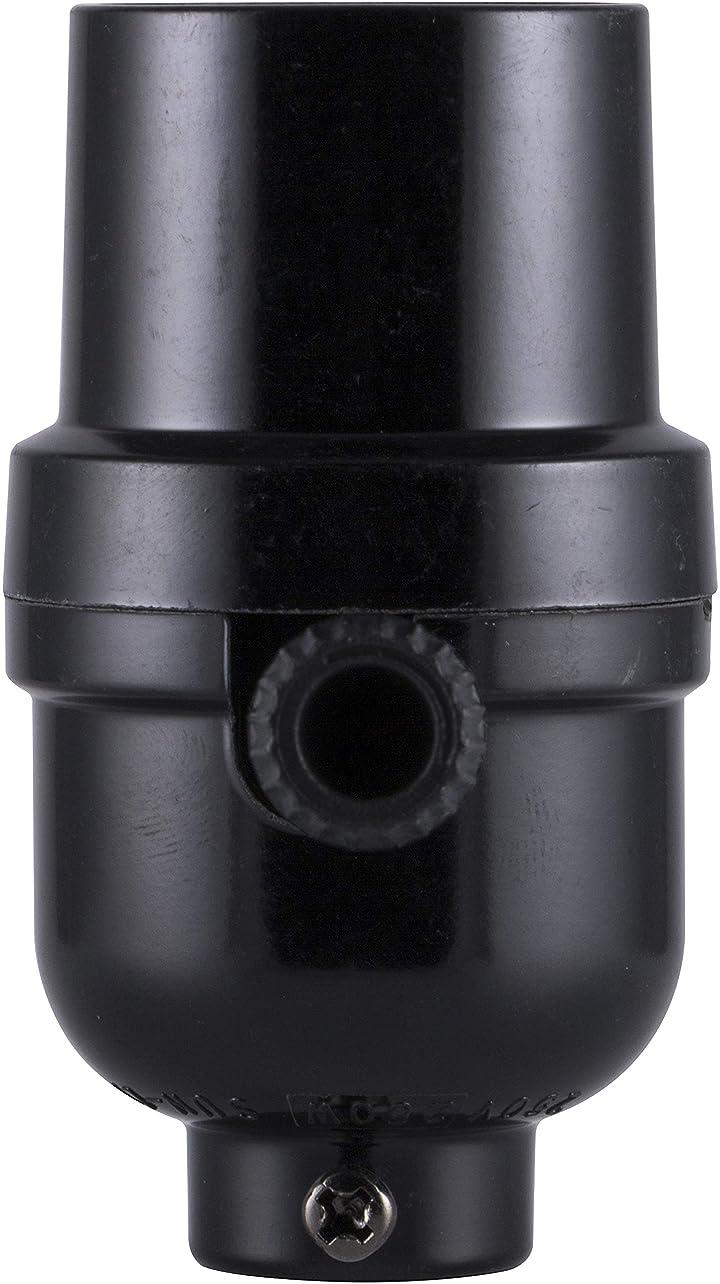 エステートアラブ人ステップGE 18275 3 Way Phenolic Lamp Socket, Black by Jasco Products Company, LLC [並行輸入品]