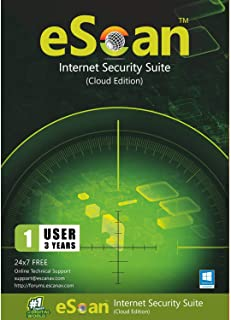 eScan Internet Security Suite with Cloud Security Total Antivirus software 2019 safe web browsing Proactive Protection Monitors Kids' online activity   1 Device 3 Years   [PC/Laptops]