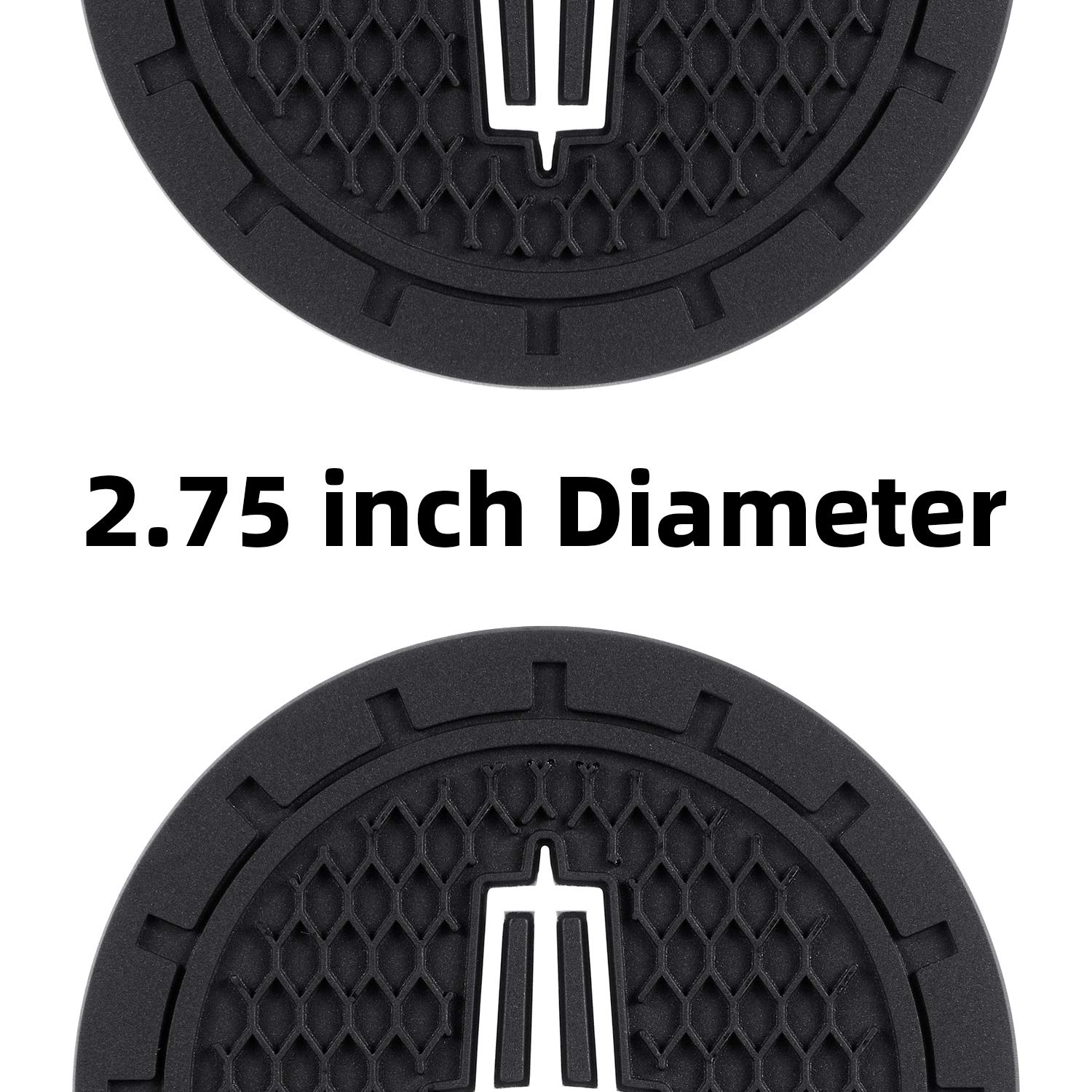 Set of 2, 2.75 Diameter Silicone Anti Slip Cup Mat for Lincoln MKC Nautilus Aviator Navigator MKZ Continental AOOOOP Car Interior Accessories for Lincoln Cup Holder Insert Coaster